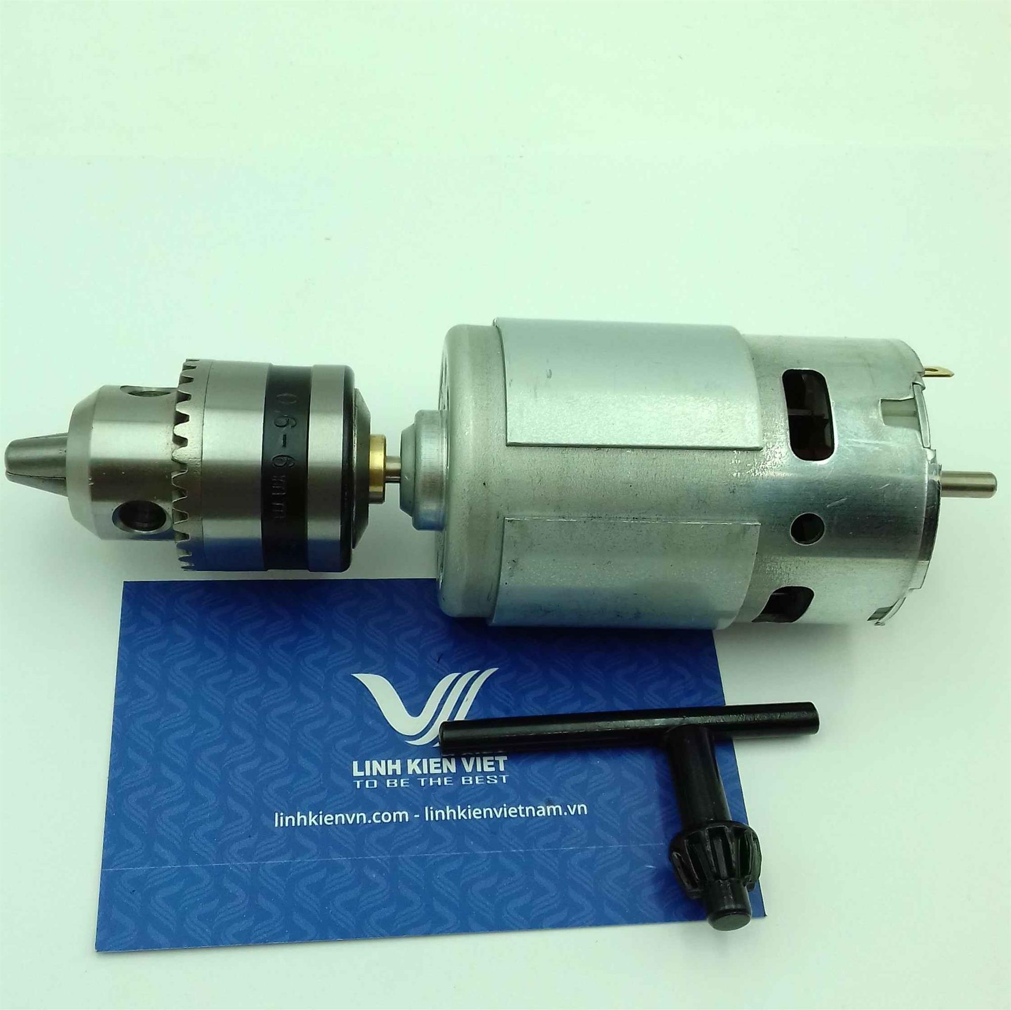 Motor khoan mạch 12V 775 (0.6-6mm) / Khoan tay DC 12V sử dụng động cơ 775 / Khoan mạch 775 -