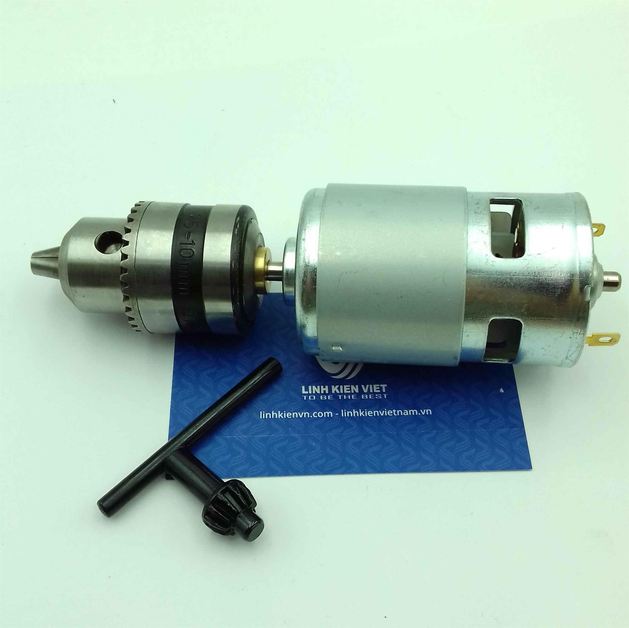 Motor khoan mạch 12V 775 (1.5-10mm) / Khoan tay DC 12V sử dụng động cơ 775 / Khoan mạch 775 -