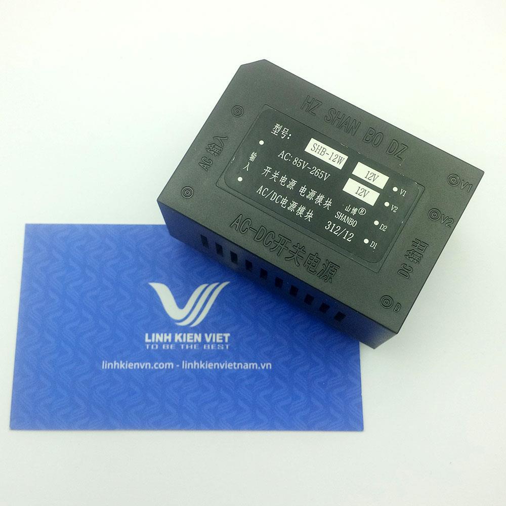 Nguồn AC-DC hàn mạch SHB-12W +12V -12V đầu vào 220V- K1H16