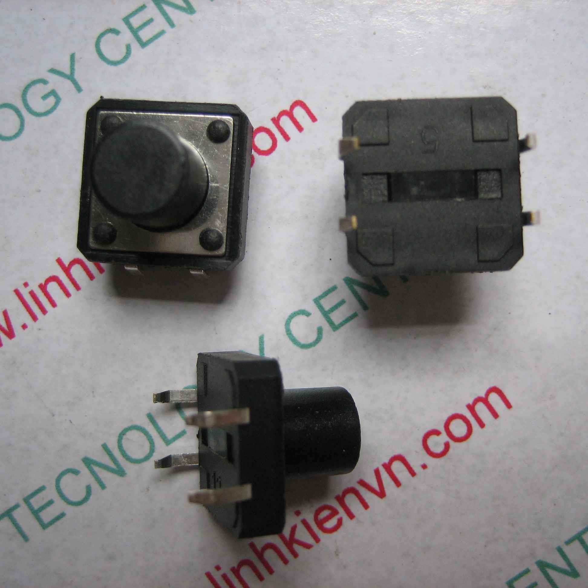 NÚT NHẤN 4 CHÂN 12x12x10mm / NÚT BẤM 4 CHÂN 12x12x10mm - D4H12