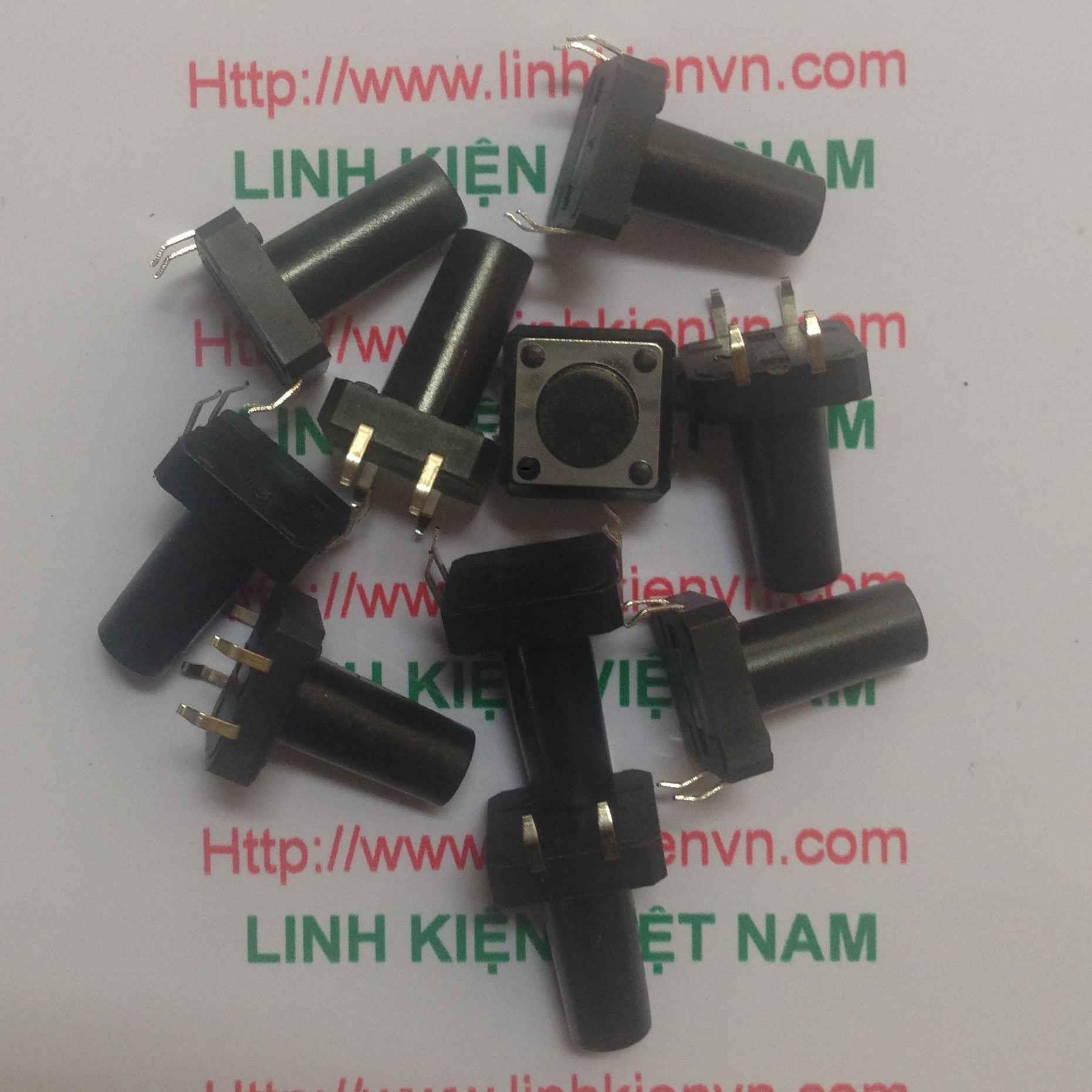 NÚT nhấn 4 chân 12x12x15mm / NÚT BẤM 4 CHÂN 12x12x15mm - i3H14