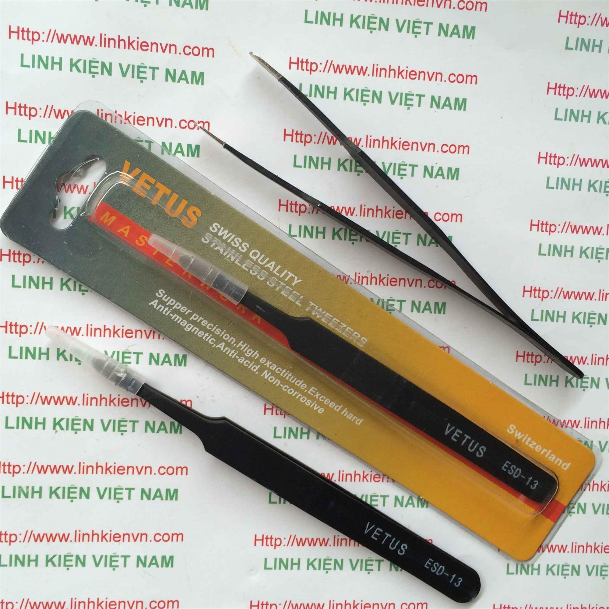 Pank kẹp linh kiện thẳng VETUS ESD-13 màu đen - GIÁ