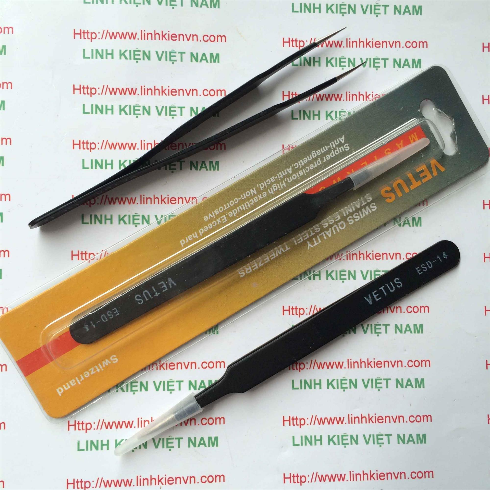 Pank kẹp linh kiện thẳng VETUS ESD-14 màu đen - GIÁ