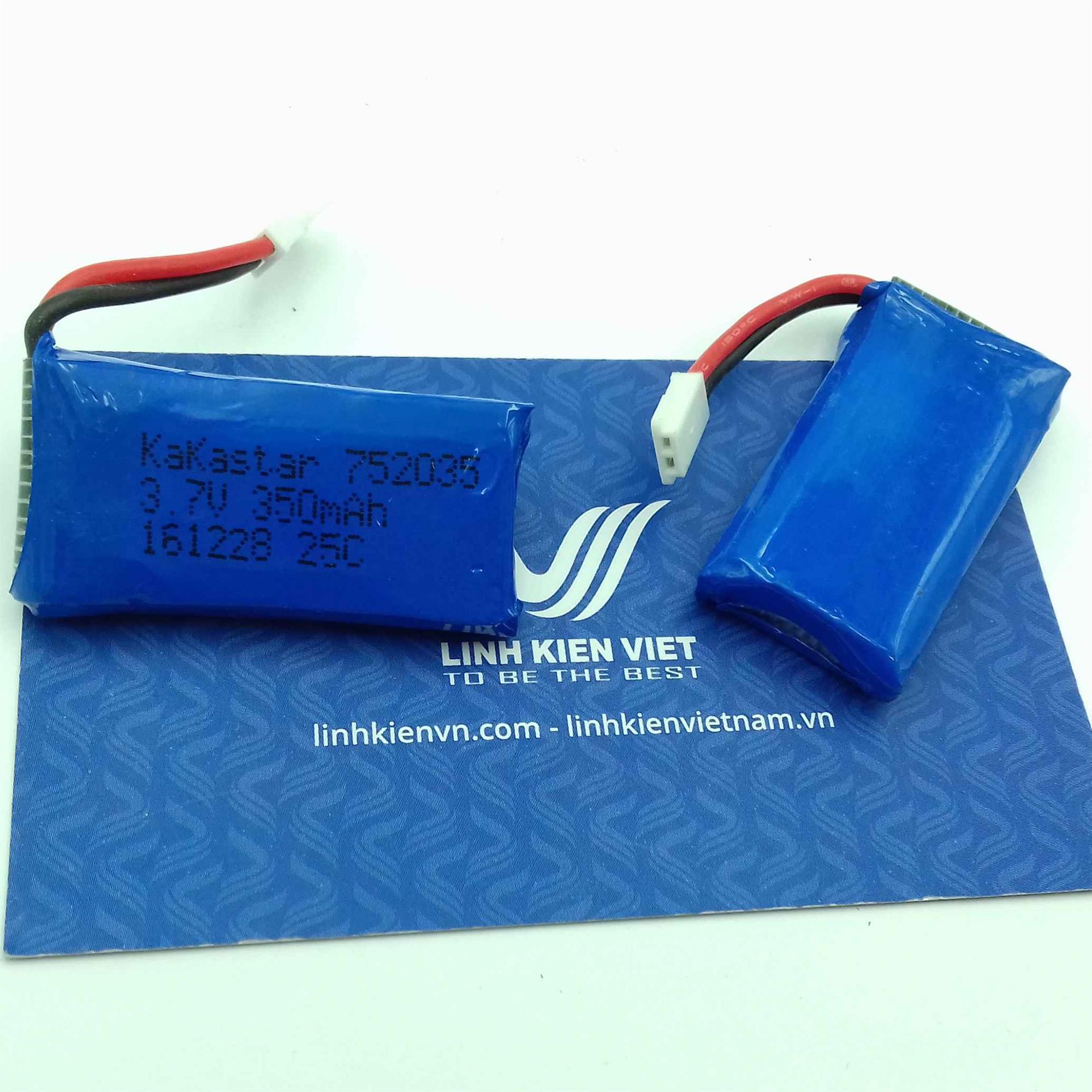 Pin lipo máy bay 3.7V 350mAh - i5H10