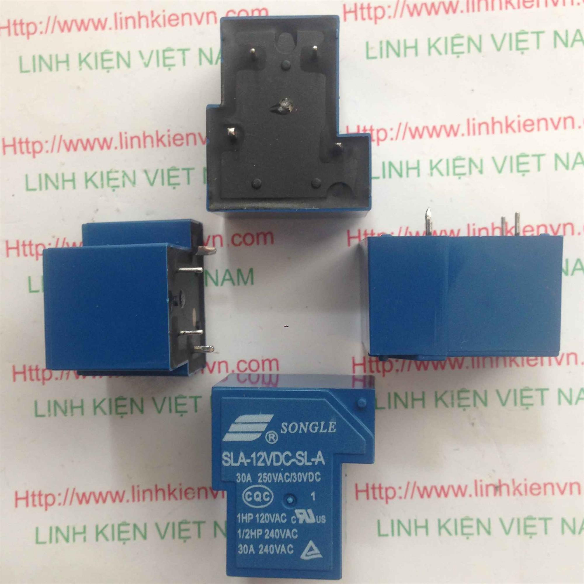 Relay 12V 30A 220V | SLA-12VDC-SL-A - A1H9(KB4H3)