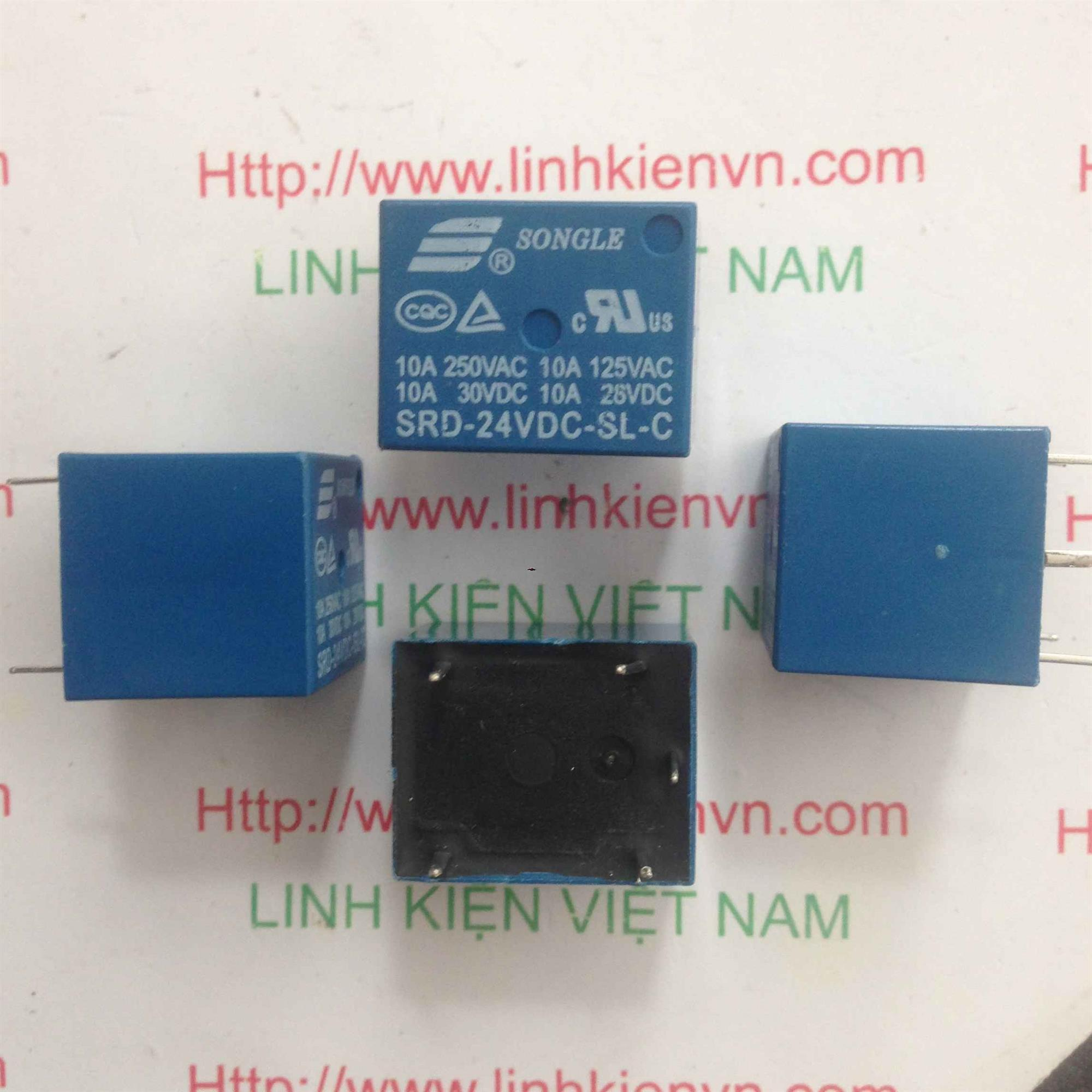 Relay 24V 10A 220V | SRD-24VDC-SL-C - A1H15(KB4H3)