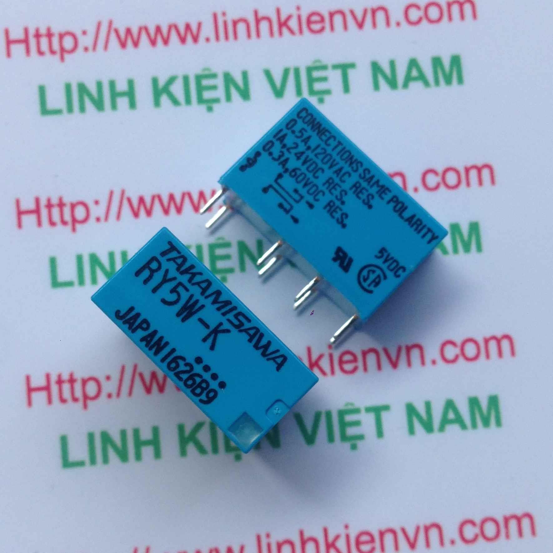 Relay 5V 0.5A-120VAC / Relay TAKAMISAWA RY5W-K / Relay 5V RY5W-K - G3H6(KB4H3)
