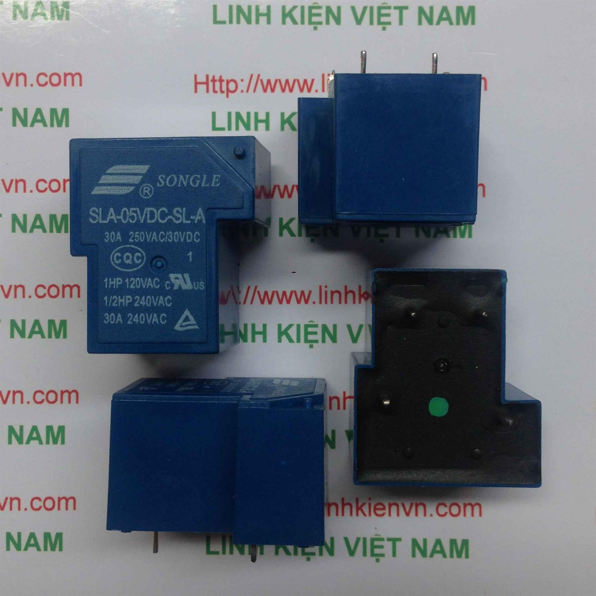 Relay 5V 30A 220V | SLA-5VDC-SL-A - A1H4(KB4H3)