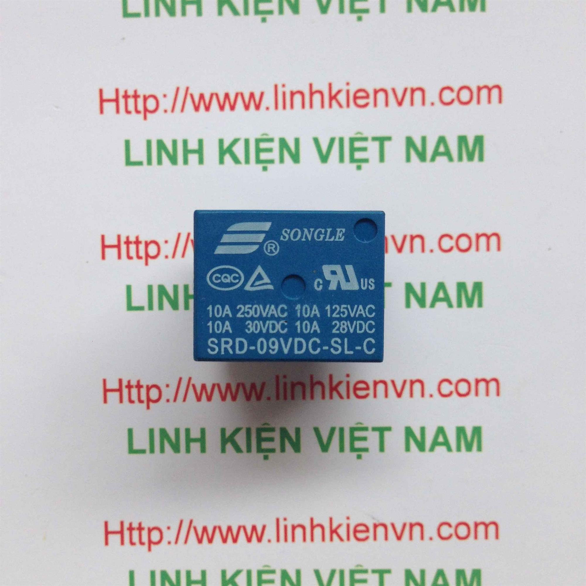 Relay 9V 10A 220V   SRD-9VDC-SL-C - A1H5(KB4H3)