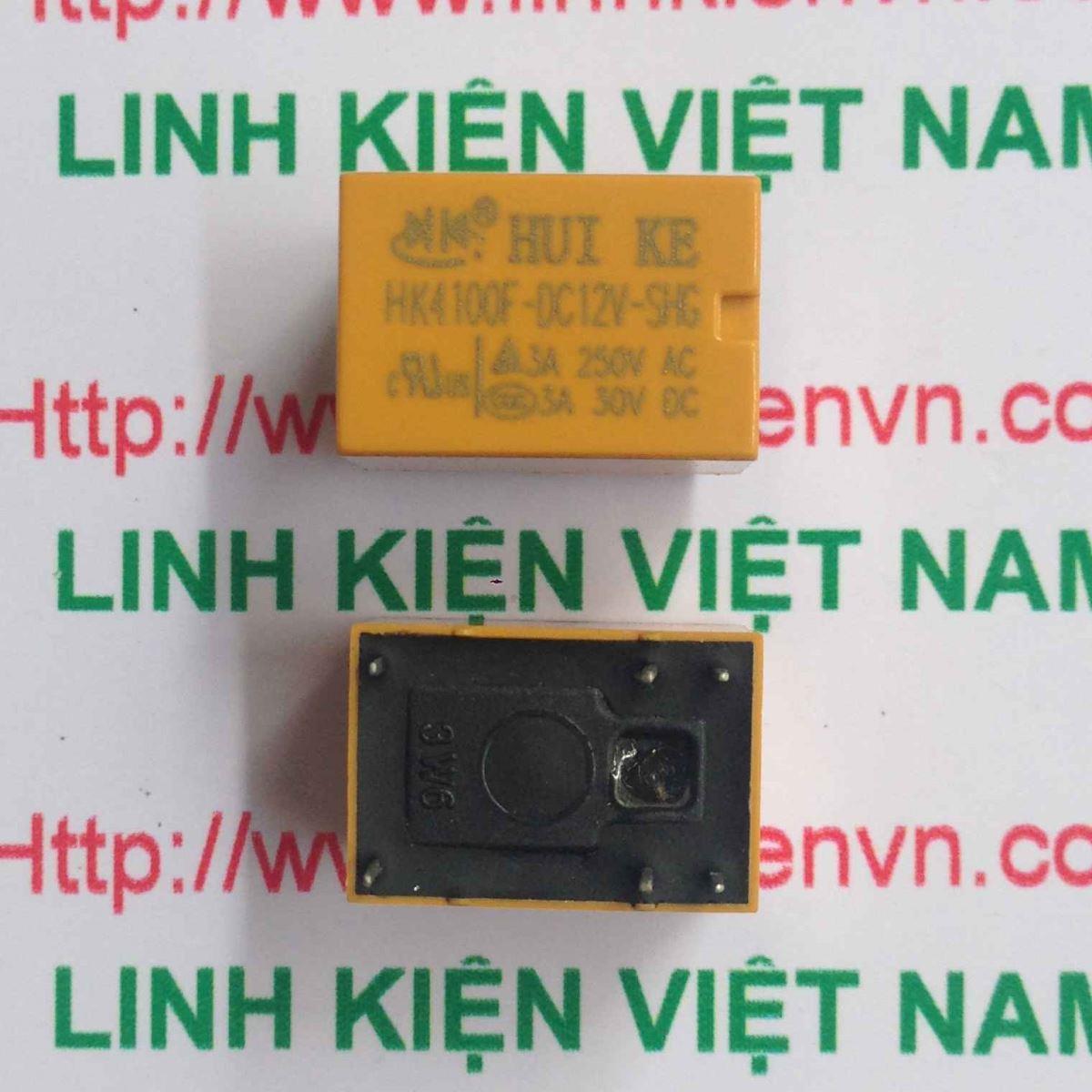 Relay Huike 1 cặp tiếp điểm 12V-3A | HK4100F-DC 12V-SHG - A1H6(KB4H3)