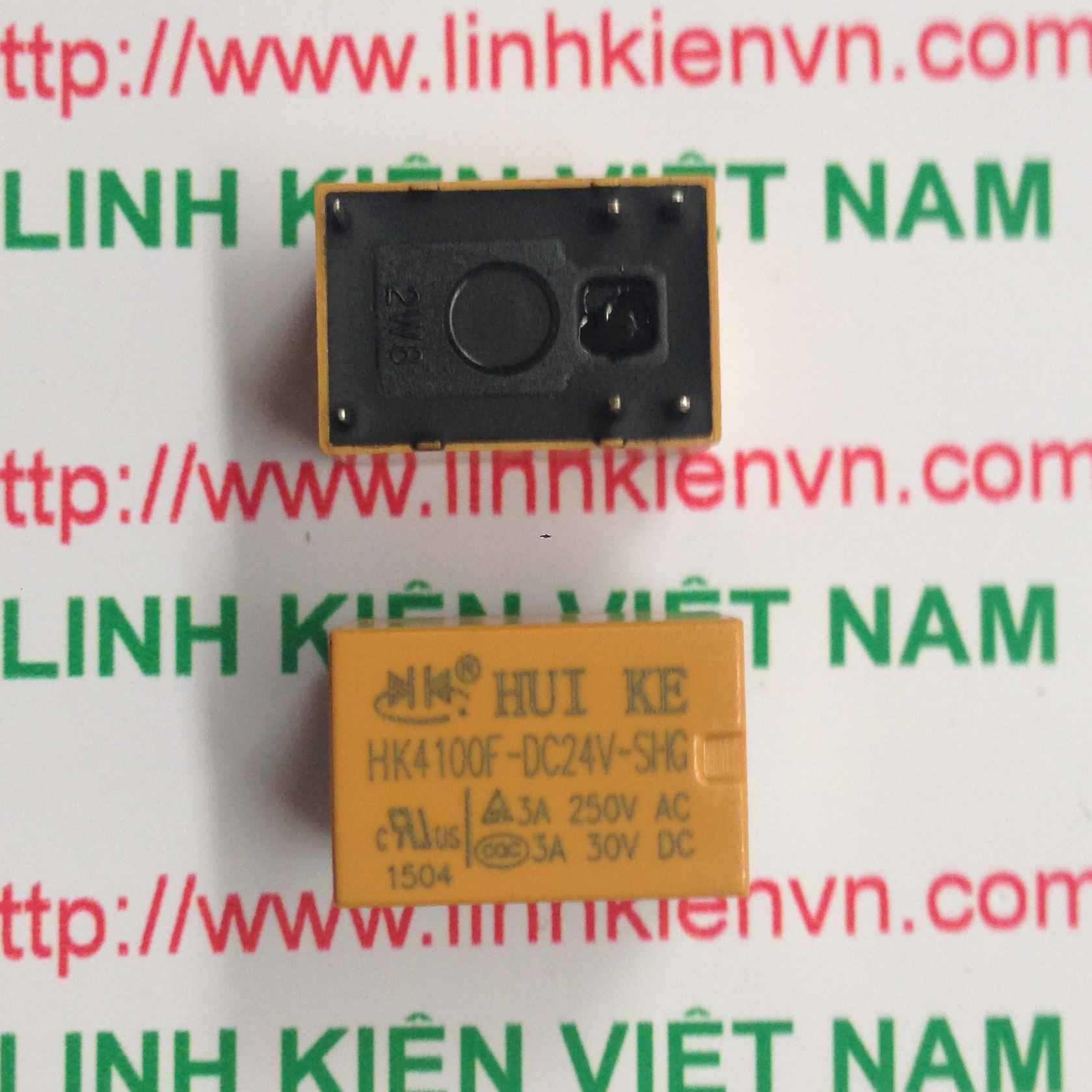 Relay Huike 1 cặp tiếp điểm 24V-3A | HK4100F-DC 24V-SHG - A1H13(KB4H3)