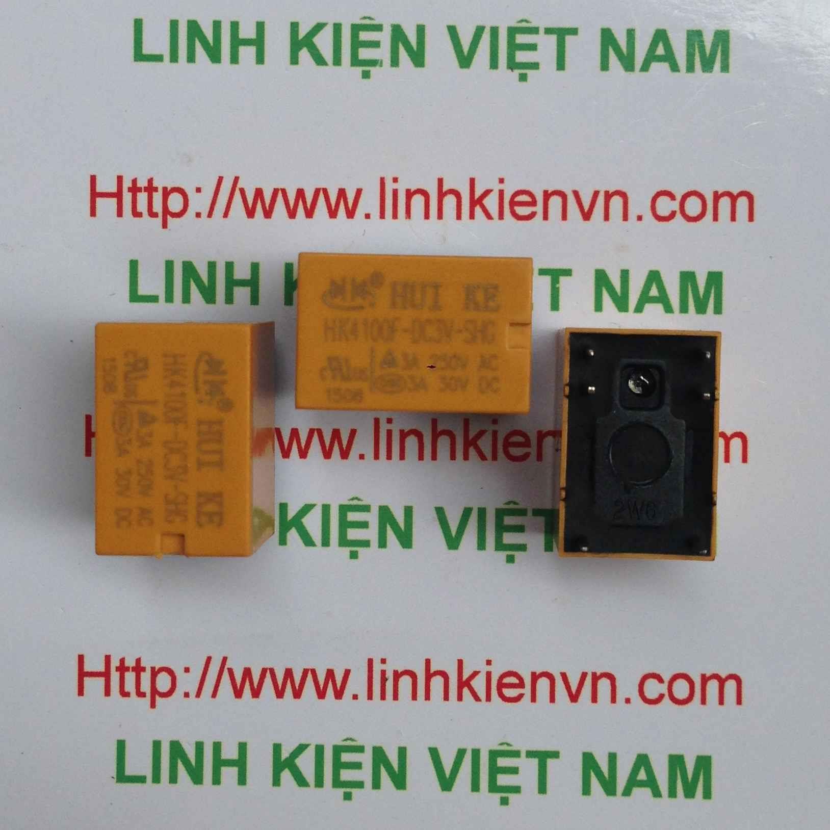 Relay Huike 1 cặp tiếp điểm 3V-3A | HK4100F-DC 3V-SHG - A2H20(KB4H3)