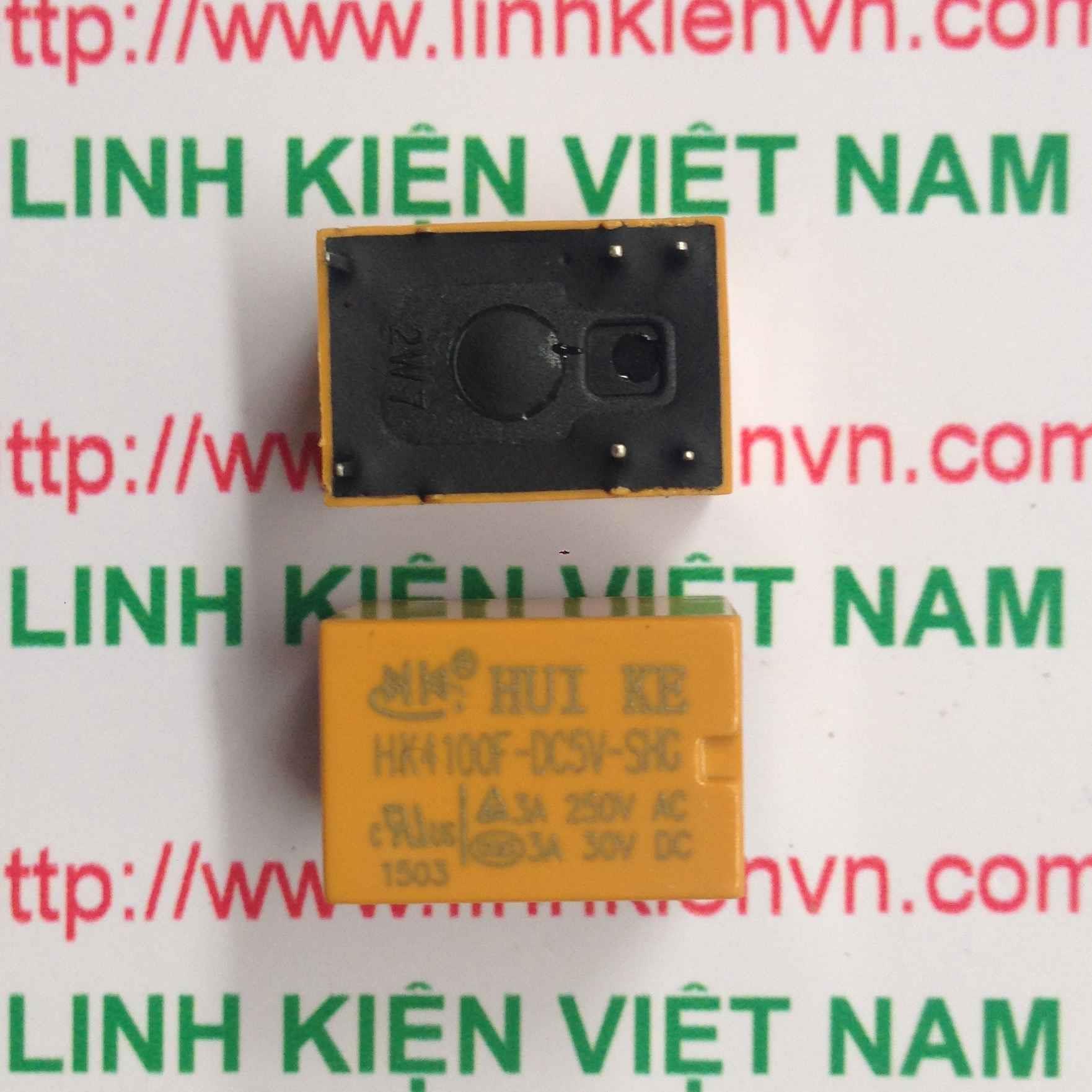 Relay Huike 1 cặp tiếp điểm 5V-3A   HK4100F-DC 5V-SHG - A1H1(KB4H3)