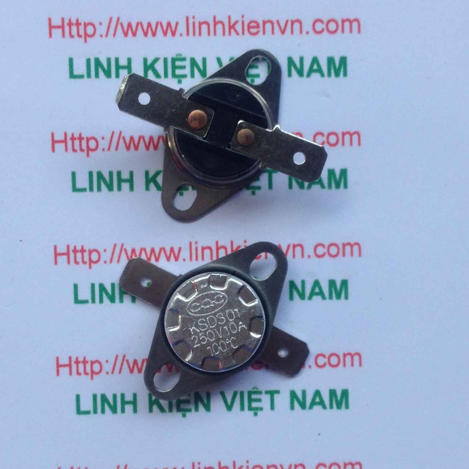Relay nhiệt 100 độ KSD301 10A/250V - G3H8 Thường đóng - rơ le nhiệt