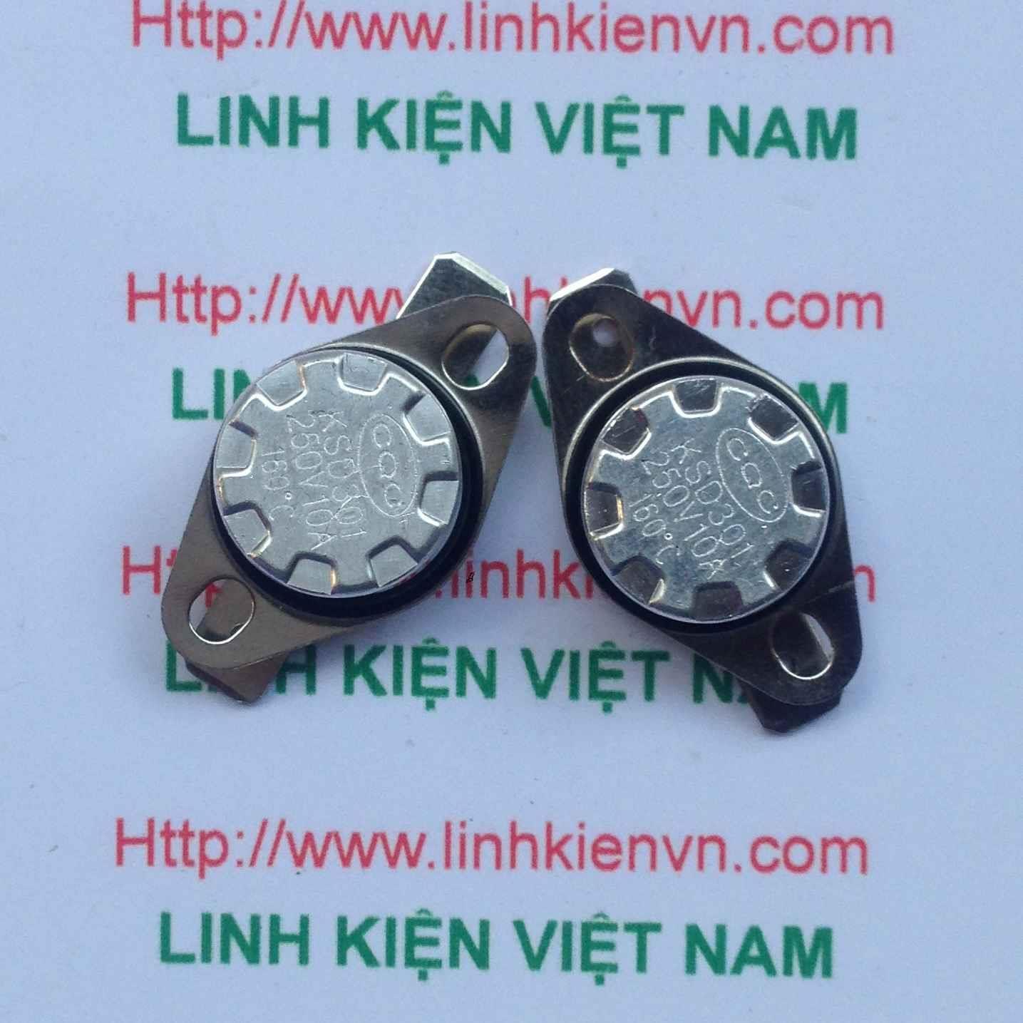 Relay nhiệt 160 độ KSD301 10A/250V - G3H9 Thường đóng - rơ le nhiệt