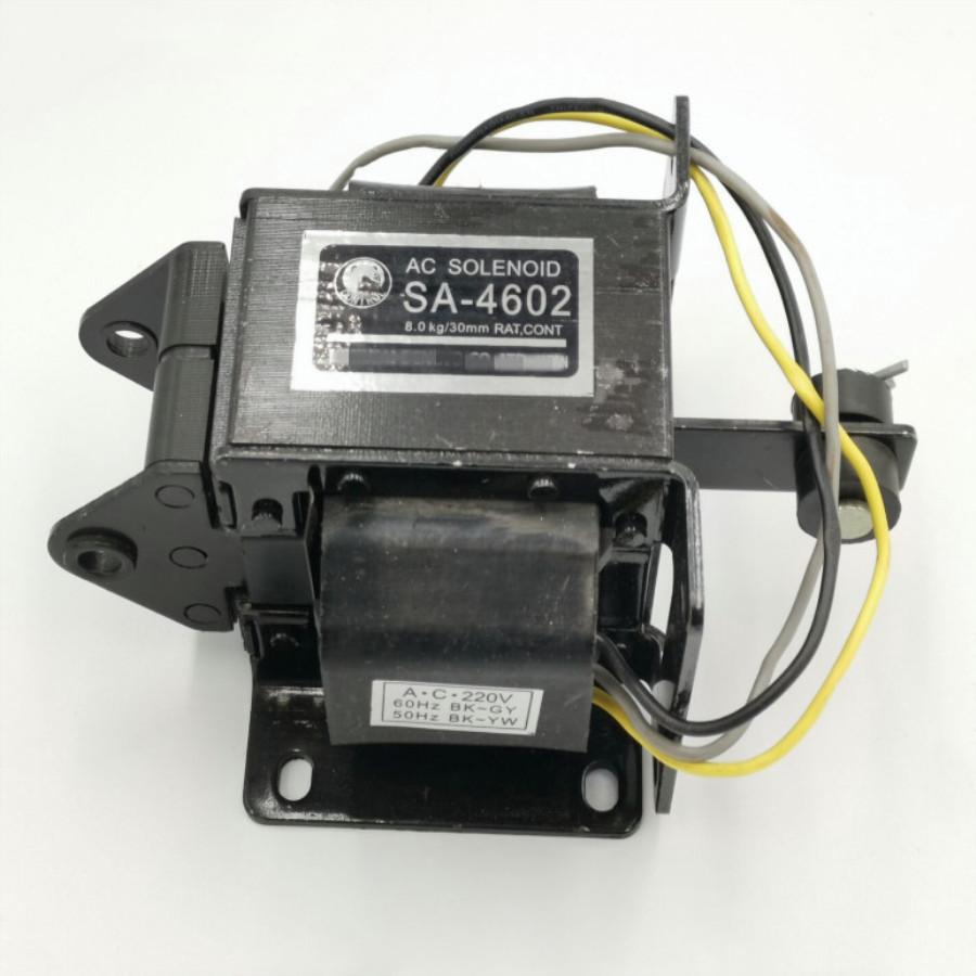 Cuộn hút 220V SA-4602 19.6N kéo 8kg hành trình 30mm - Kho