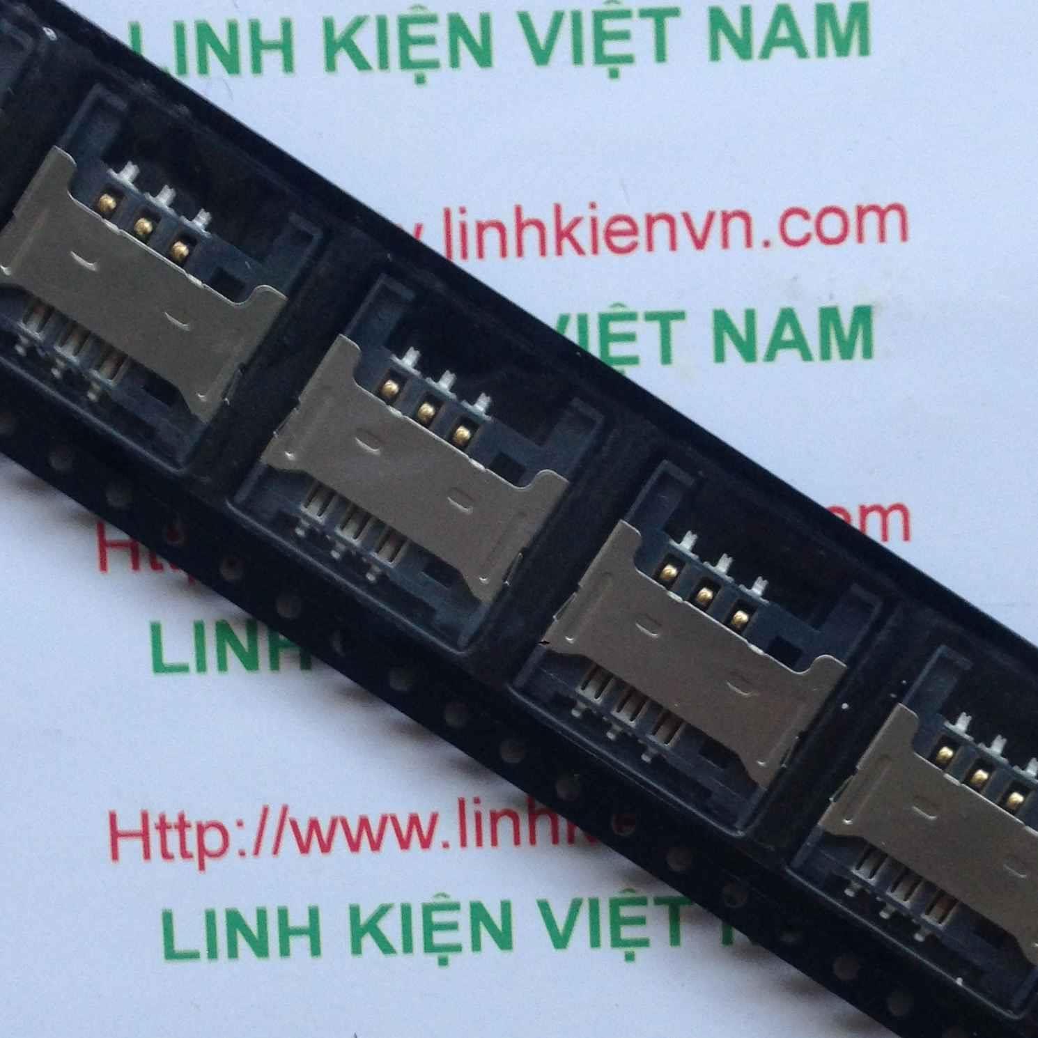 Socket Sim V3 - khe căm SIM- D3H20 (Hết hàng)