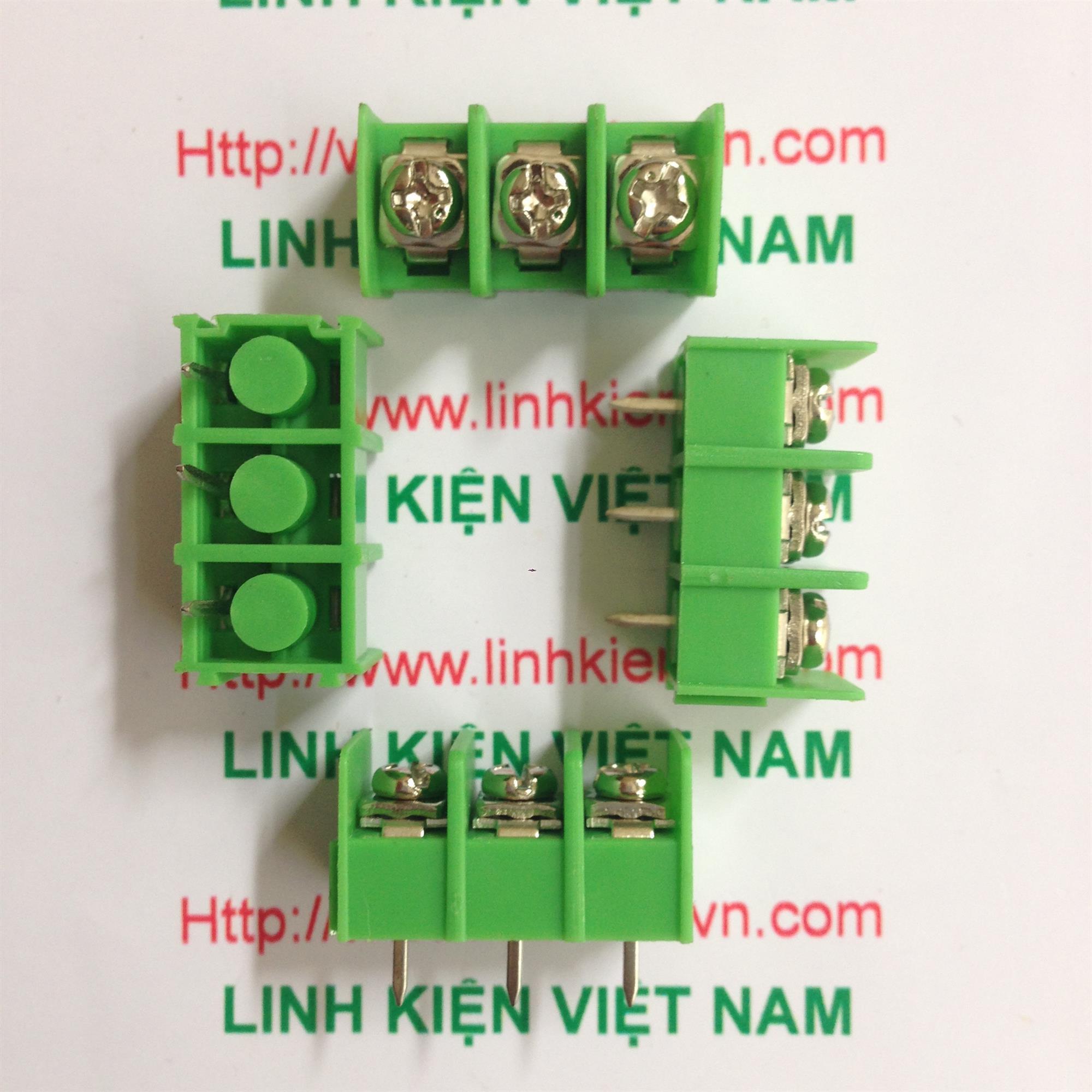 Terminal 3 chân 8.5mm KF8500-3P xanh lá - D7H14
