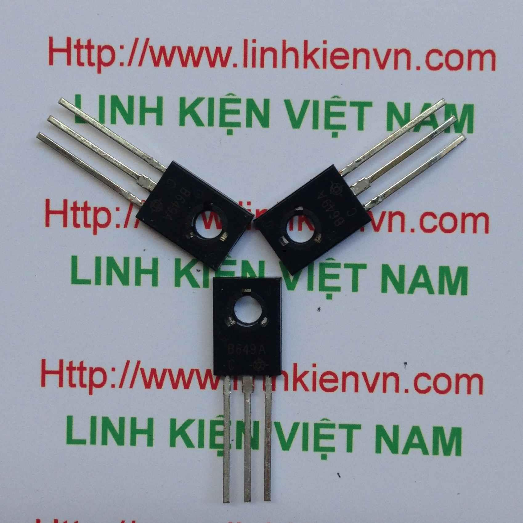 Transistor PNP 2SB649 3A 180V B649 TO-126 - B8H14