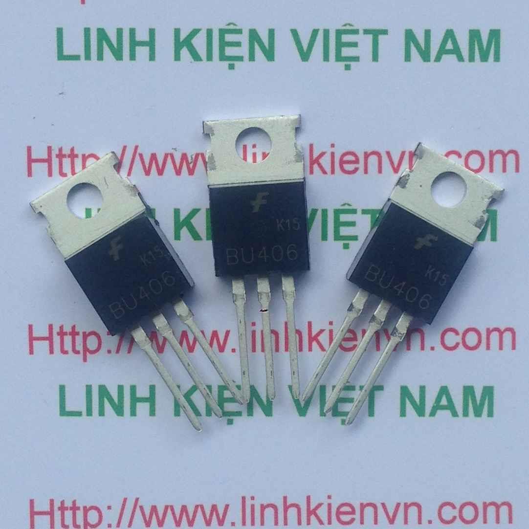 Transistor NPN BU406 7A 200V - TO220 dùng cho đầu phun sương siêu âm - B7H3