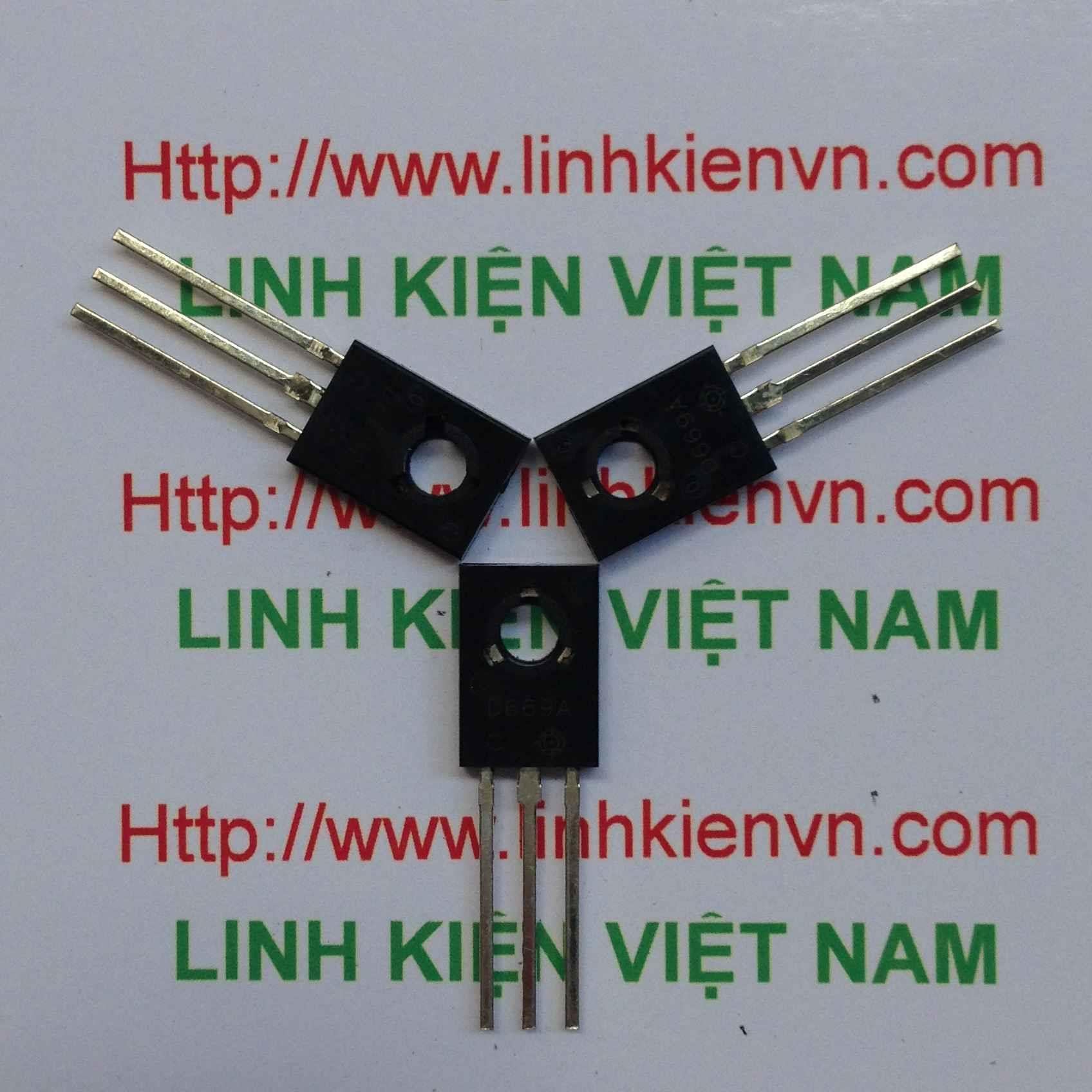 Transistor NPN 2SD669 3A 180V D669 TO-126 - B8H14