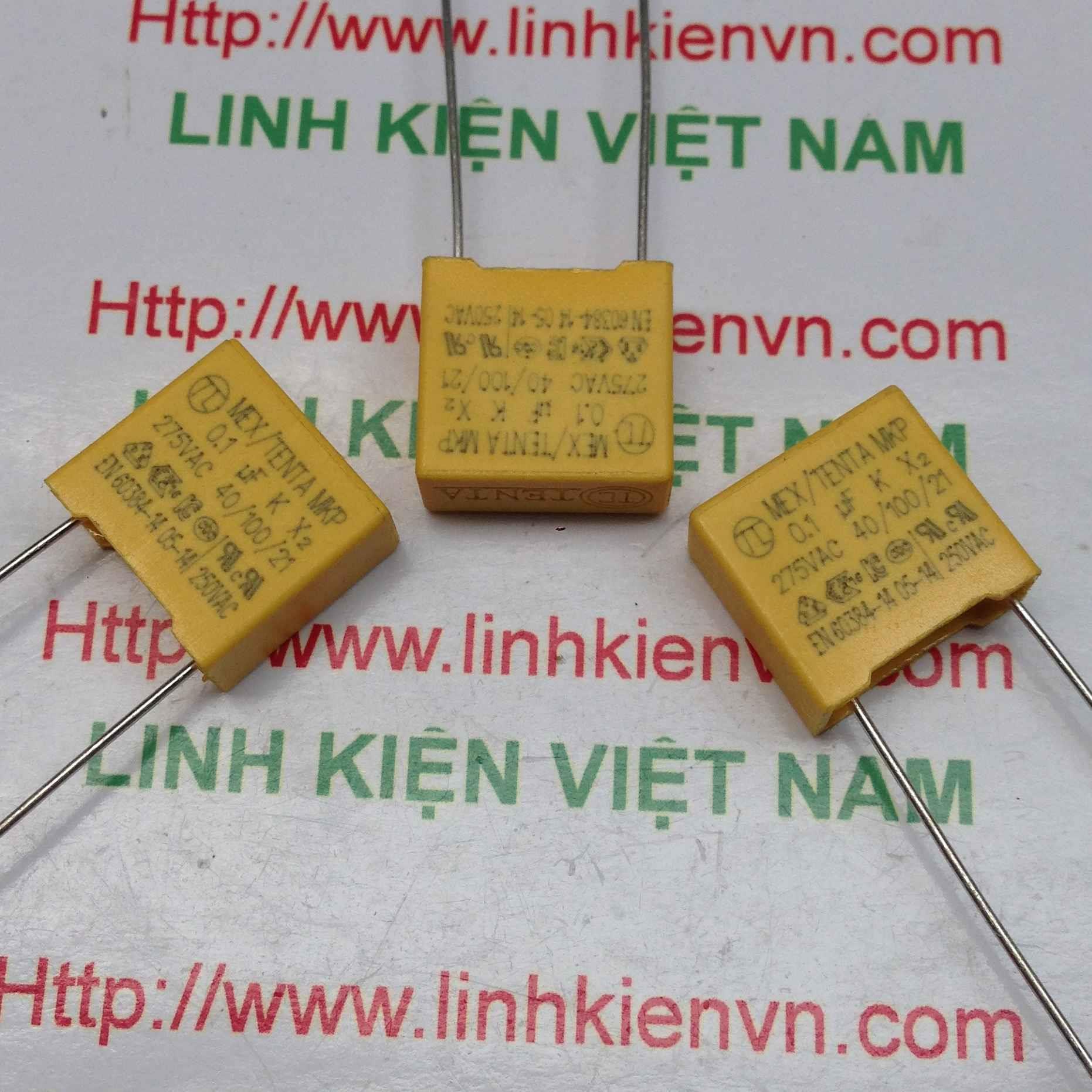 Tụ 0.1uF 275VAC / Tụ 104 275V - C3H10