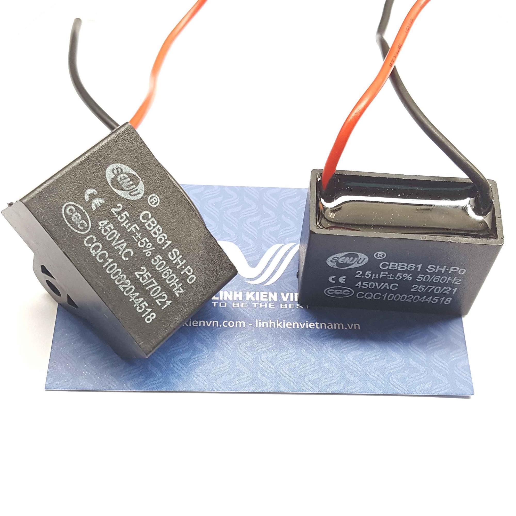 Tụ 2.5uF/450VAC Tụ quạt 2.5uF/450V - C2H14