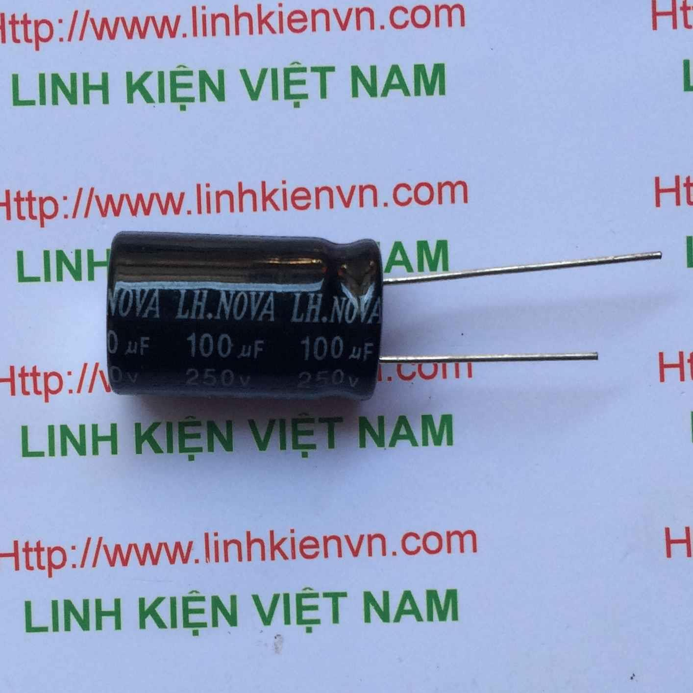 Tụ Hóa 100uF-250V / Tụ Hóa 250V 100uF / Tụ 100uF 250V - A7H8