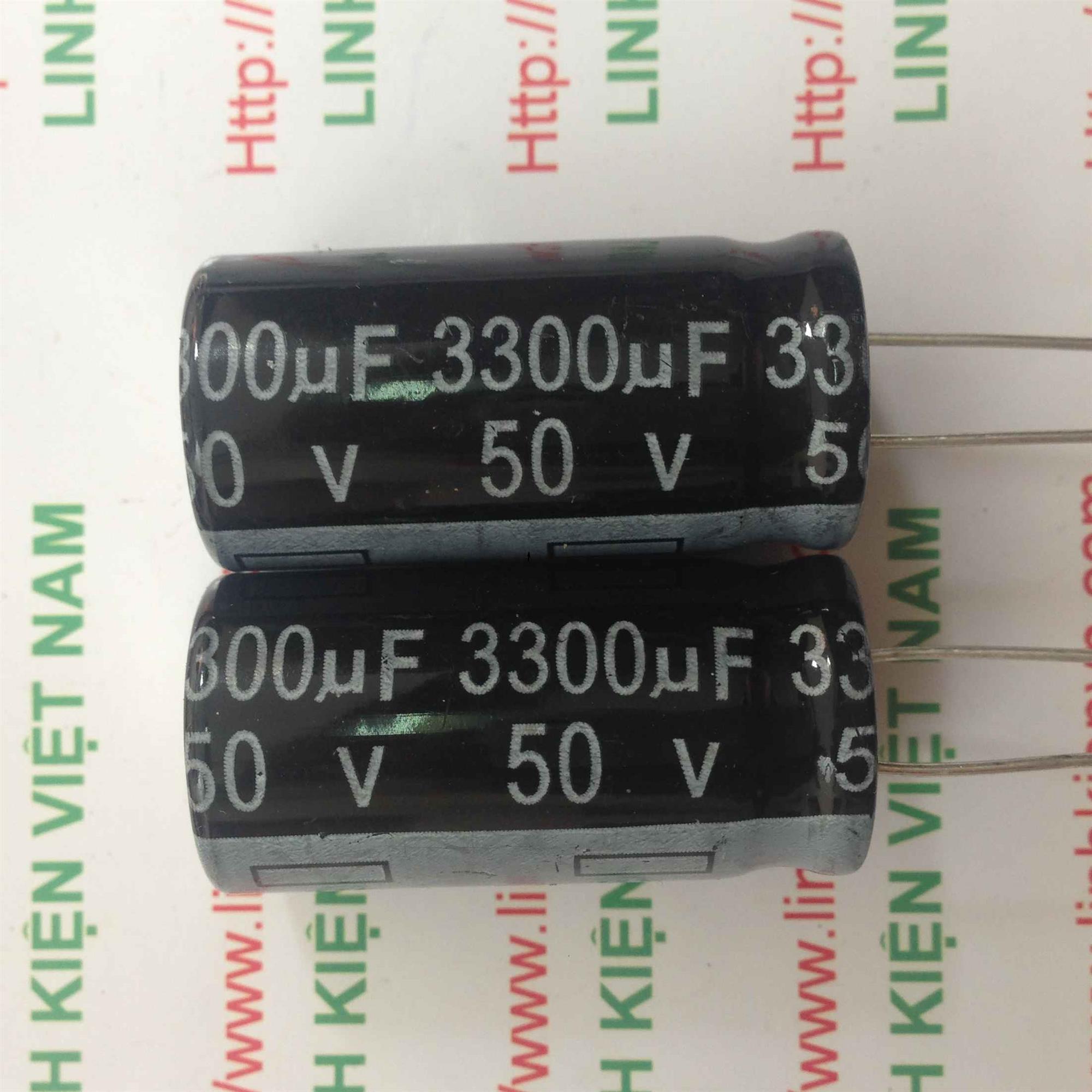 Tụ Hóa 3300uF-50V / Tụ Hóa 50V 3300uF / Tụ 3300uF 50V - A7H4