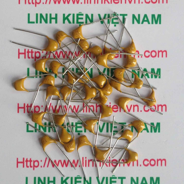Tụ vàng Tantalum 104 50V - 100nF - D1H16