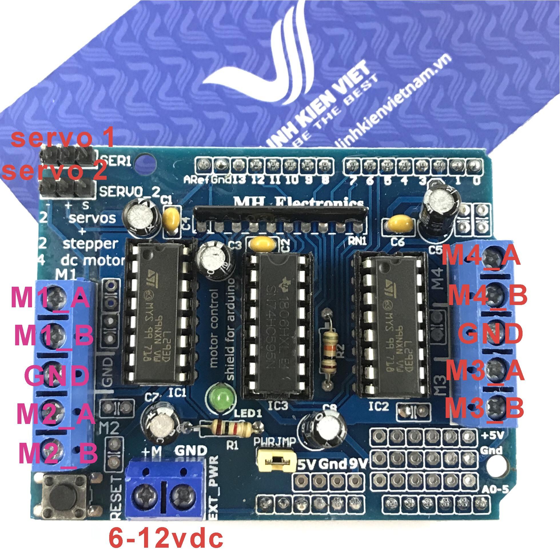 Module điều khiển động cơ Arduino Motor Shield L293D - X2H1