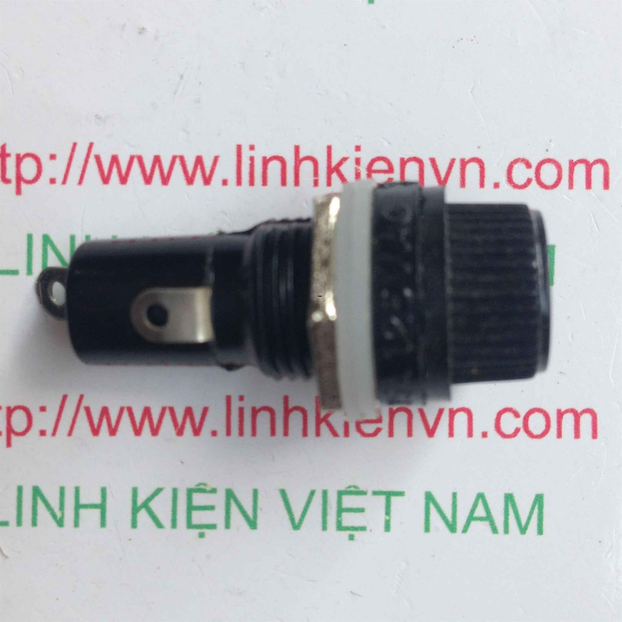 Vỏ cầu chì 5x20mm đường kính 12mm - B10H6