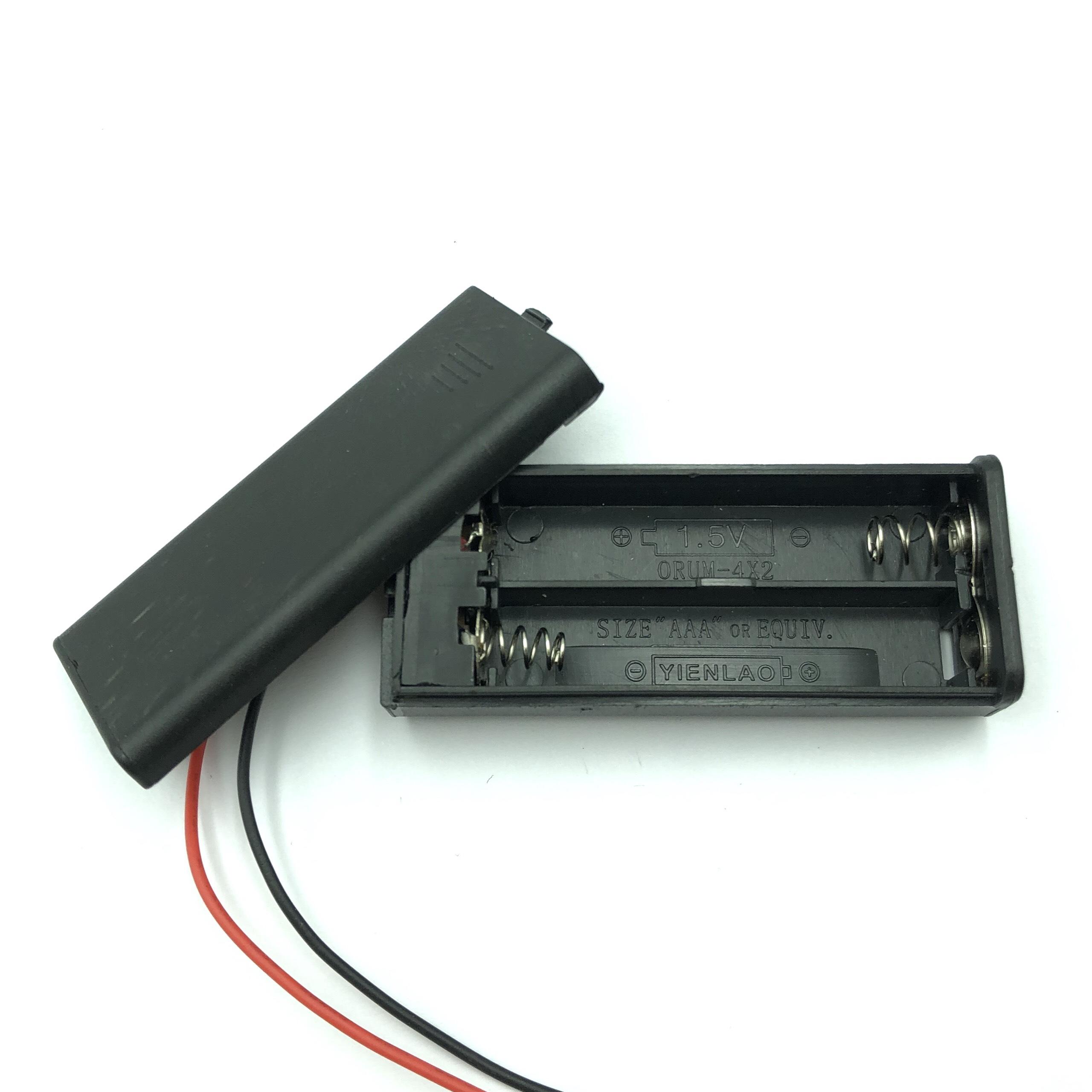 Đế pin AAA 2 pin có công tắc  - G3H19