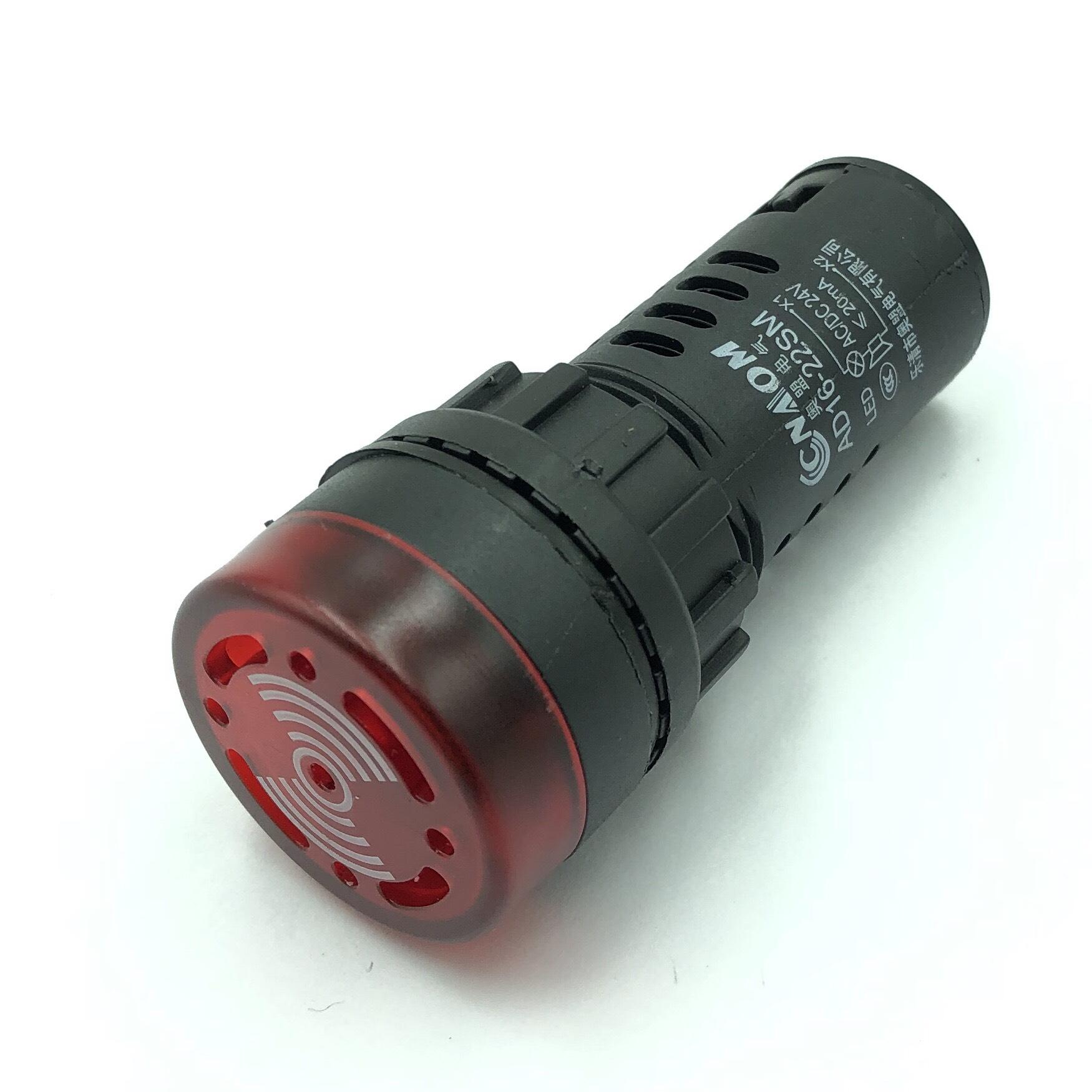 Còi cảnh báo AD16-22SM 24V AC/DC màu đỏ có đèn - K3H17
