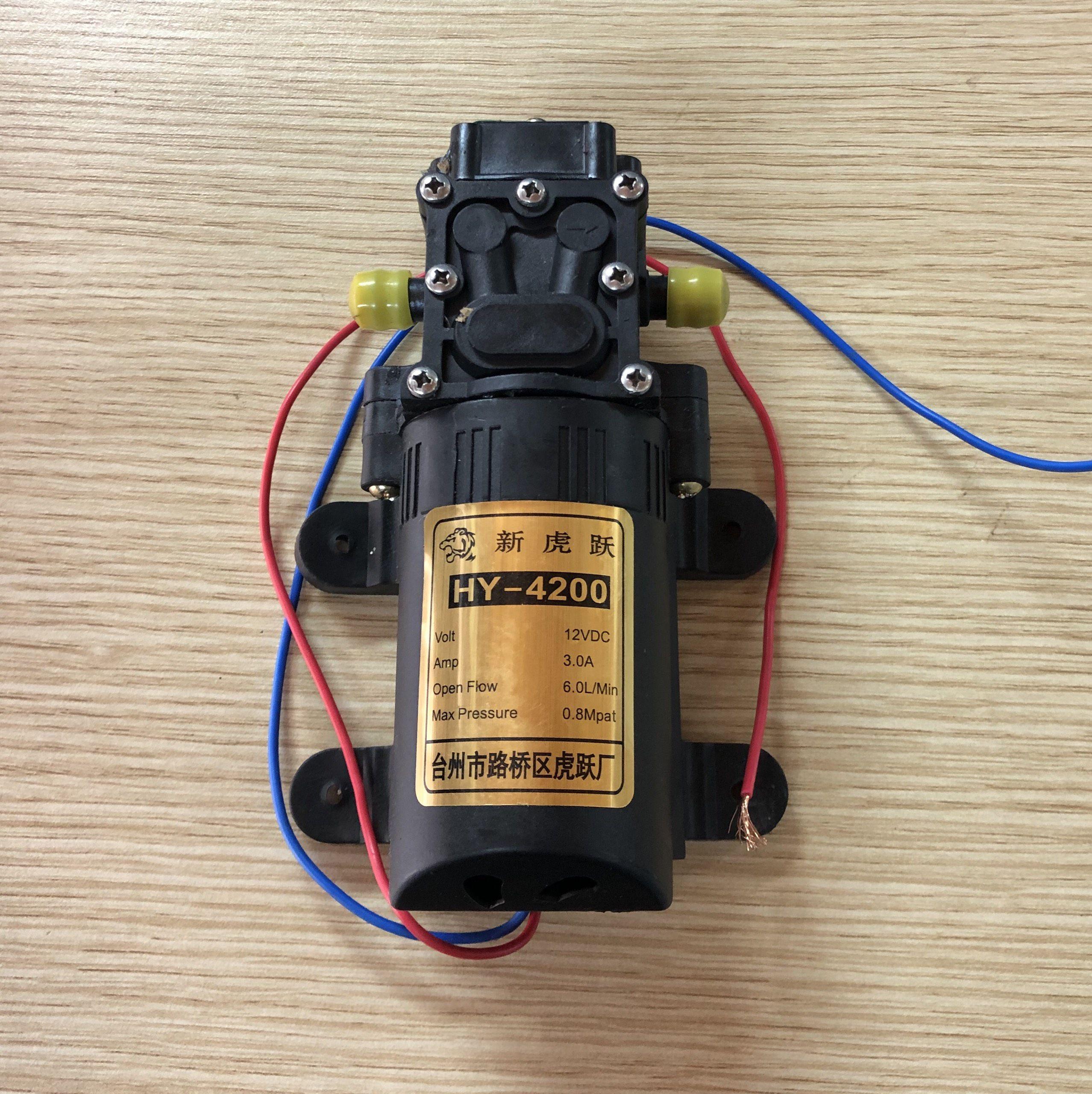 Máy bơm cao áp mini 12V 3A 0.6 Mpa HY-4200/ Motor tăng áp HY-4200