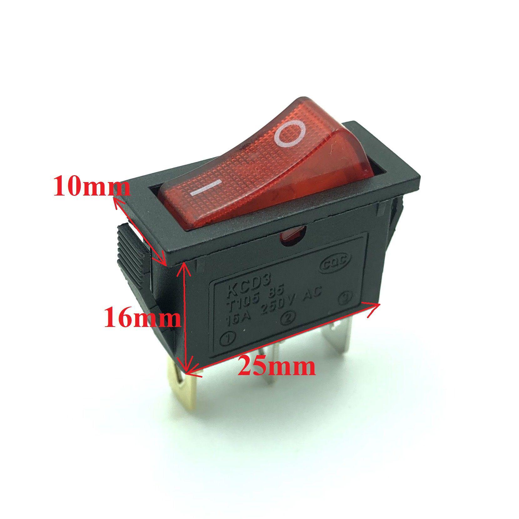 Công tắc nguồn KCD3 T105 có đèn 220v  - X2H25
