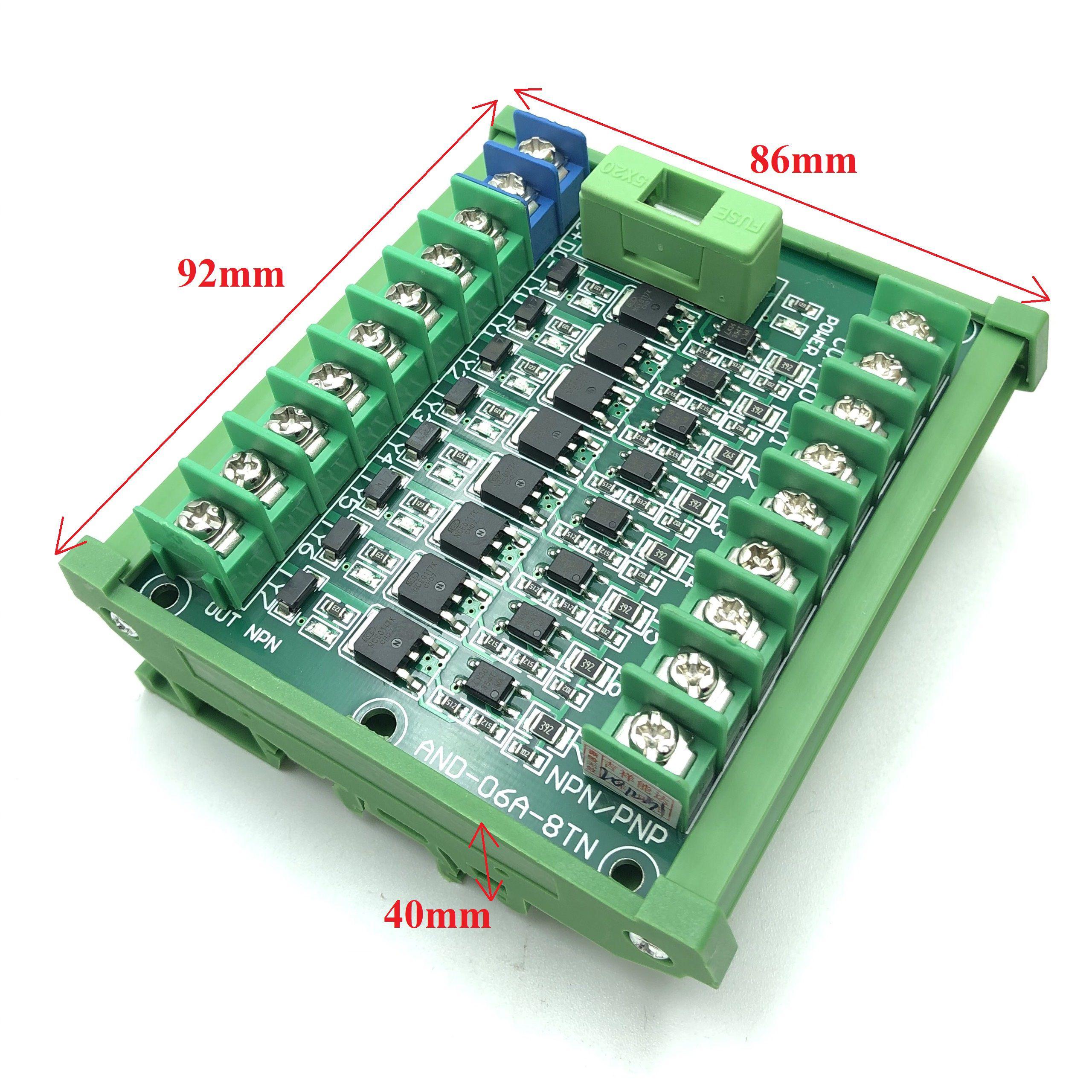 Module mosfet cách ly 8 kênh cho PLC có cài thanh ray AND-06A-8TN