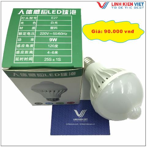 Bóng đèn gắn cảm biến chuyển động 9W -  220VAC