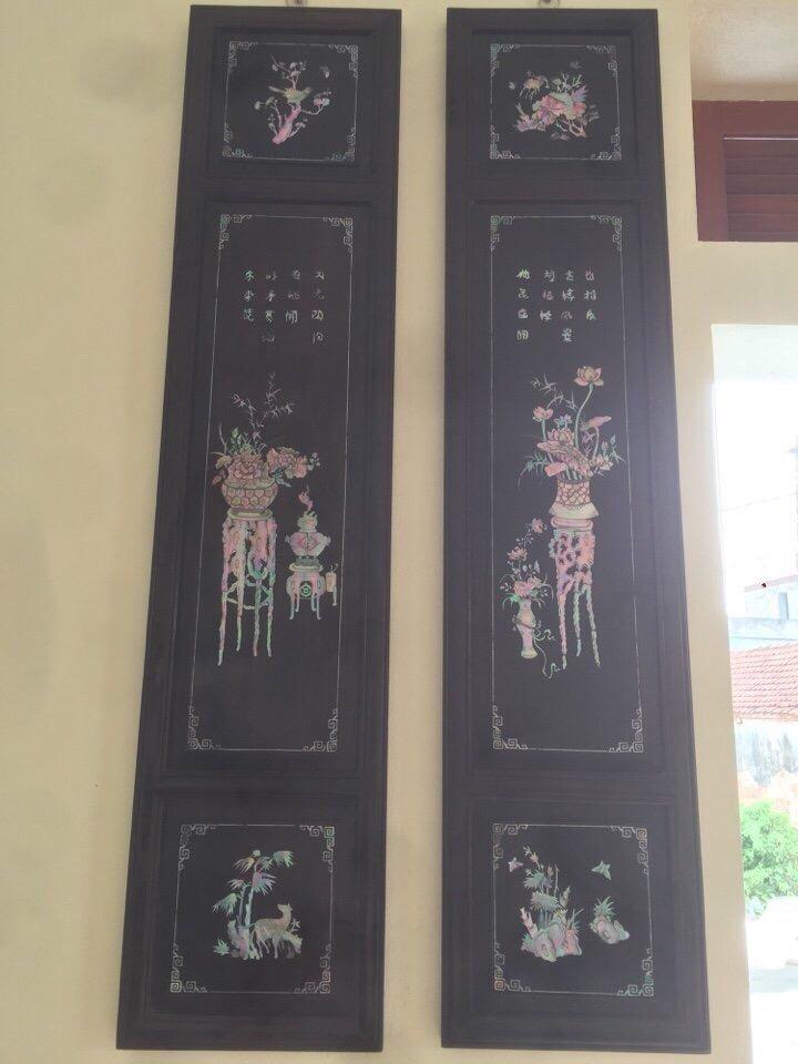 Đồ Gỗ Hùng Sen xin giao lưu bức tranh tứ bình cẩn ốc gỗ  gụ