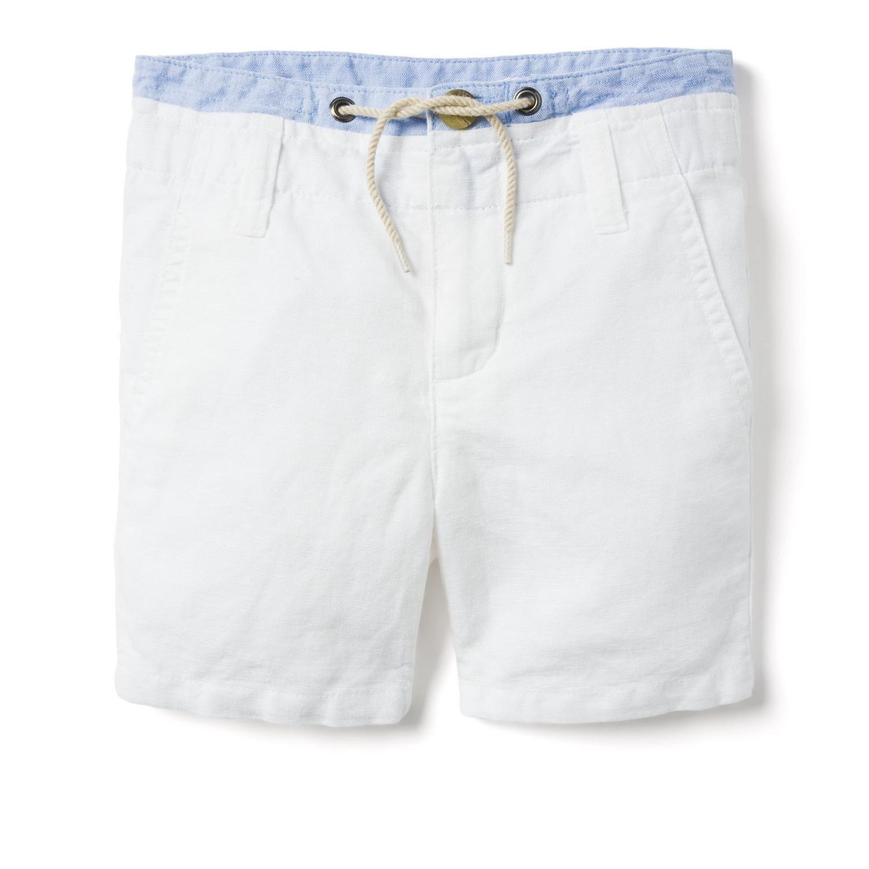 BT-Short khaki Janie Jack trắng dây rút