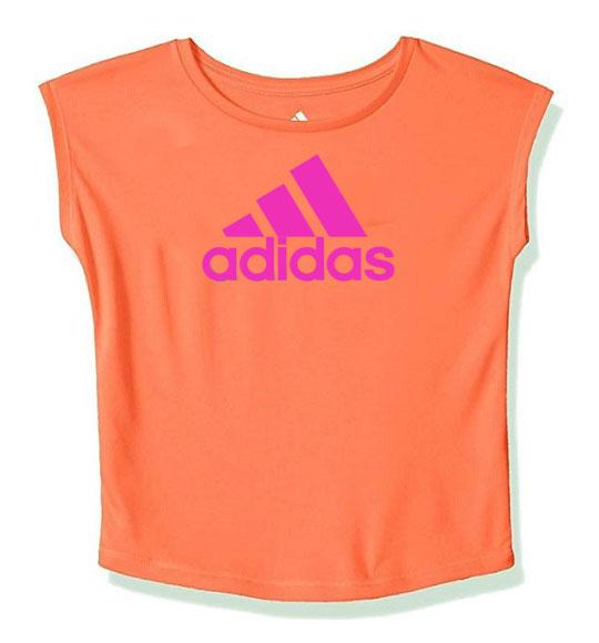 BG-Áo thun thể thao Adidas cam dạ quang