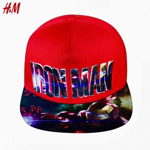 BT-Nón H&M đỏ chữ ironman