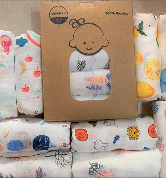 BG-Pack 4 khăn Milkbarn