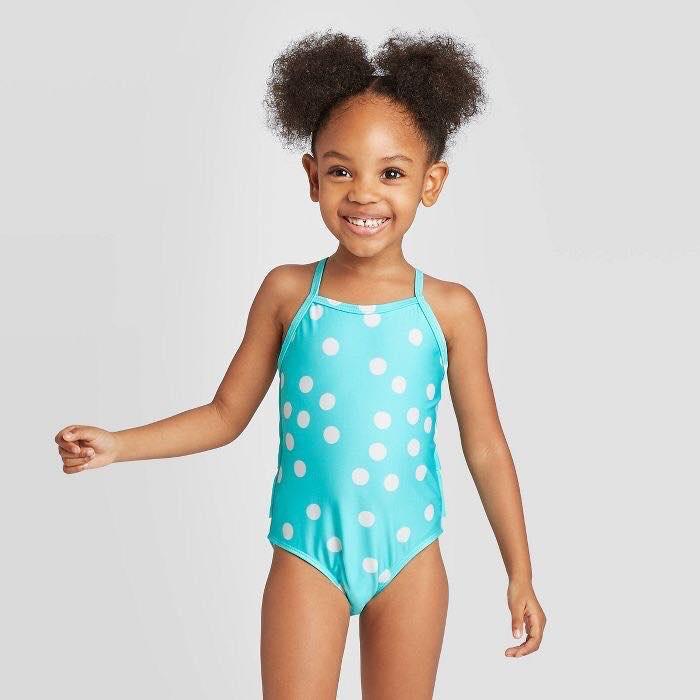 BG-Đồ bơi xanh chấm bi