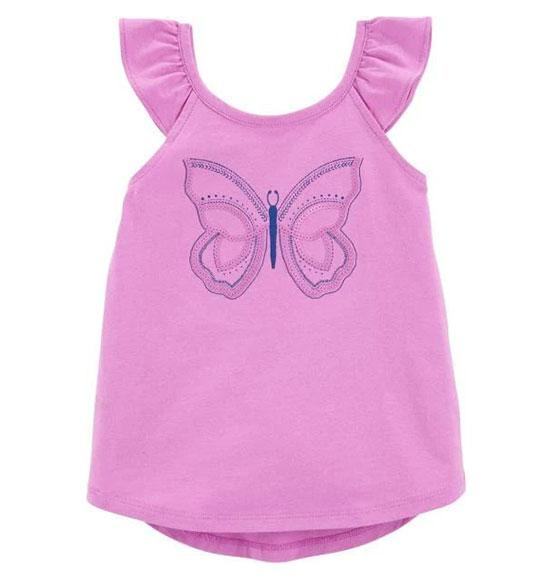 BG-Áo tay bèo Oshkosh tím bướm