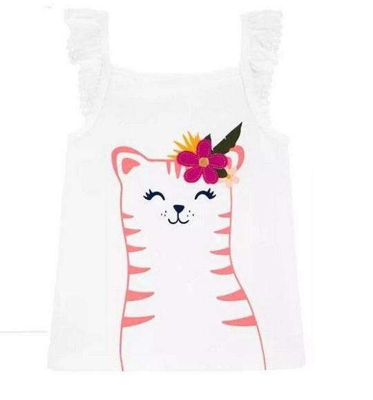 BG-Áo dây Carters VNXK trắng mèo