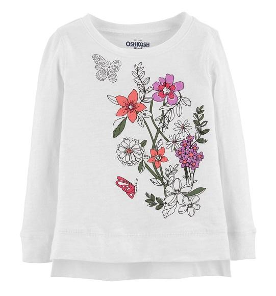 BG-Áo TD Carters trắng hoa