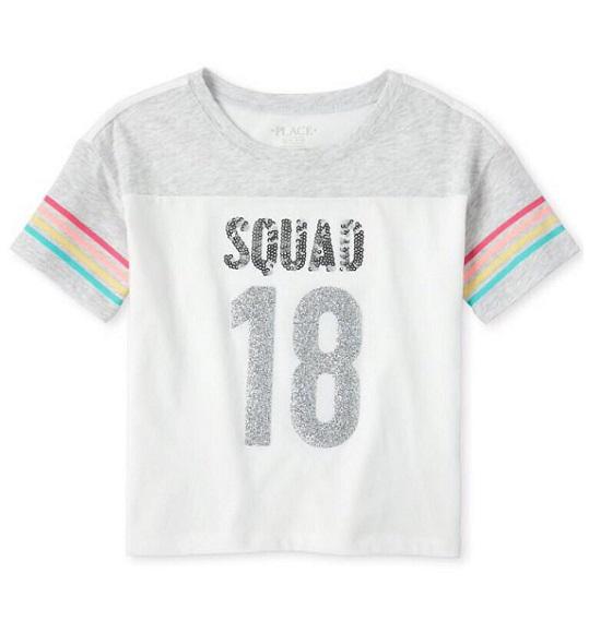 BG-Áo TN kết cườm Place 4-16 trắng xám squad