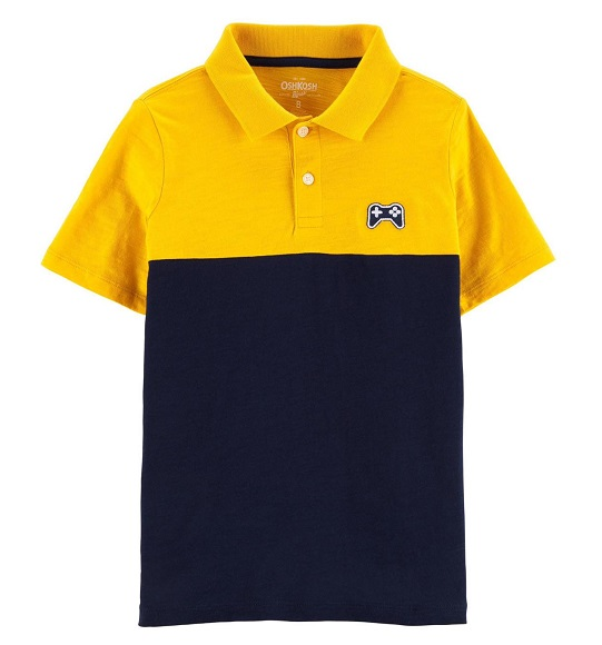 BT-Áo TN Polo Oshkosh vàng navy