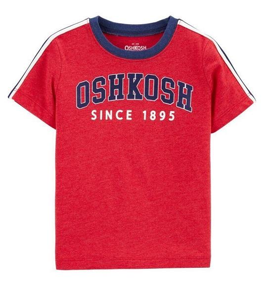 BT-Áo TN Oshkosh 6m~14 đỏ logo